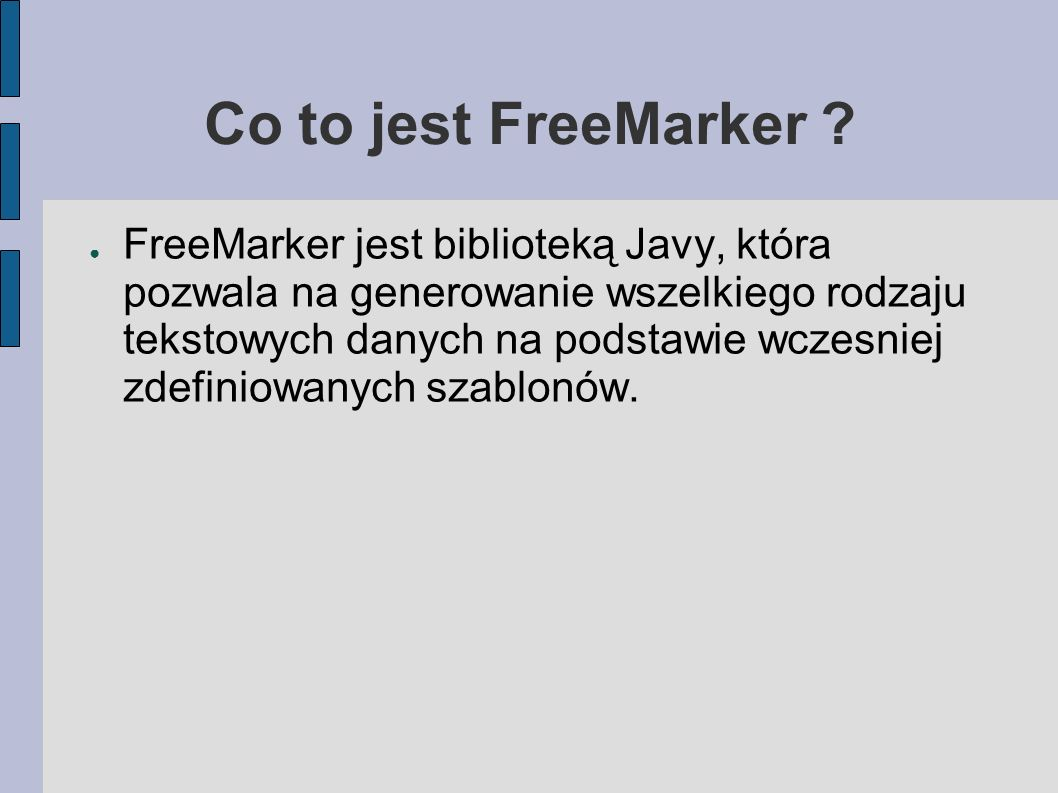 Co to jest FreeMarker