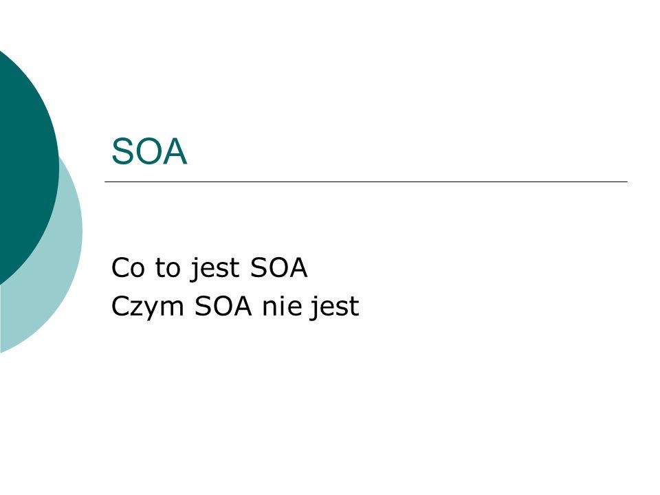 Co to jest SOA Czym SOA nie jest