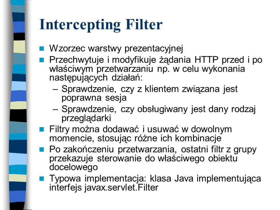 Intercepting Filter Wzorzec warstwy prezentacyjnej
