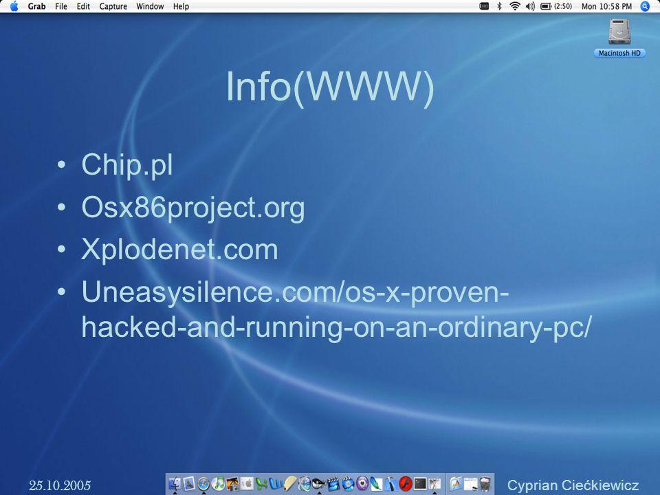 Info(WWW) Chip.pl Osx86project.org Xplodenet.com