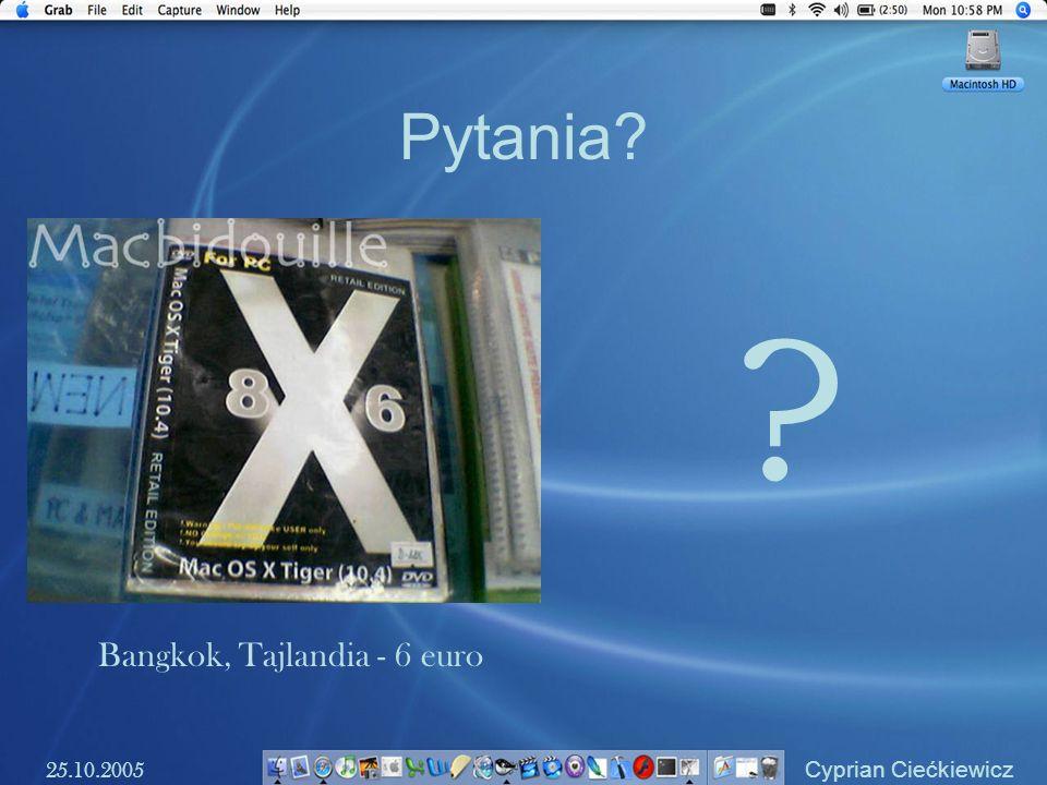 Pytania Bangkok, Tajlandia - 6 euro 25.10.2005 Cyprian Ciećkiewicz