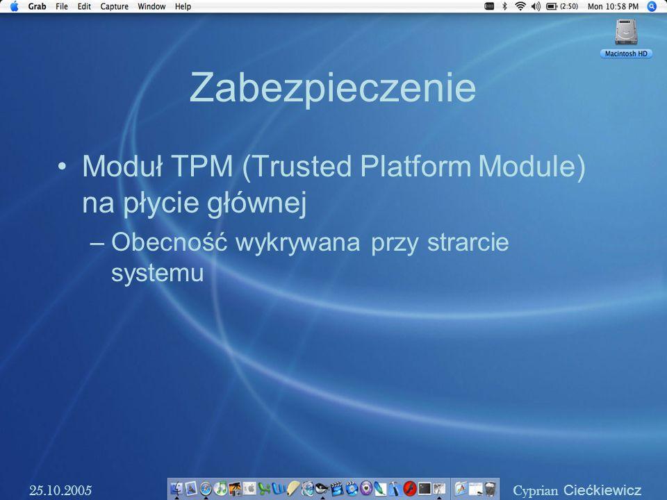 Zabezpieczenie Moduł TPM (Trusted Platform Module) na płycie głównej