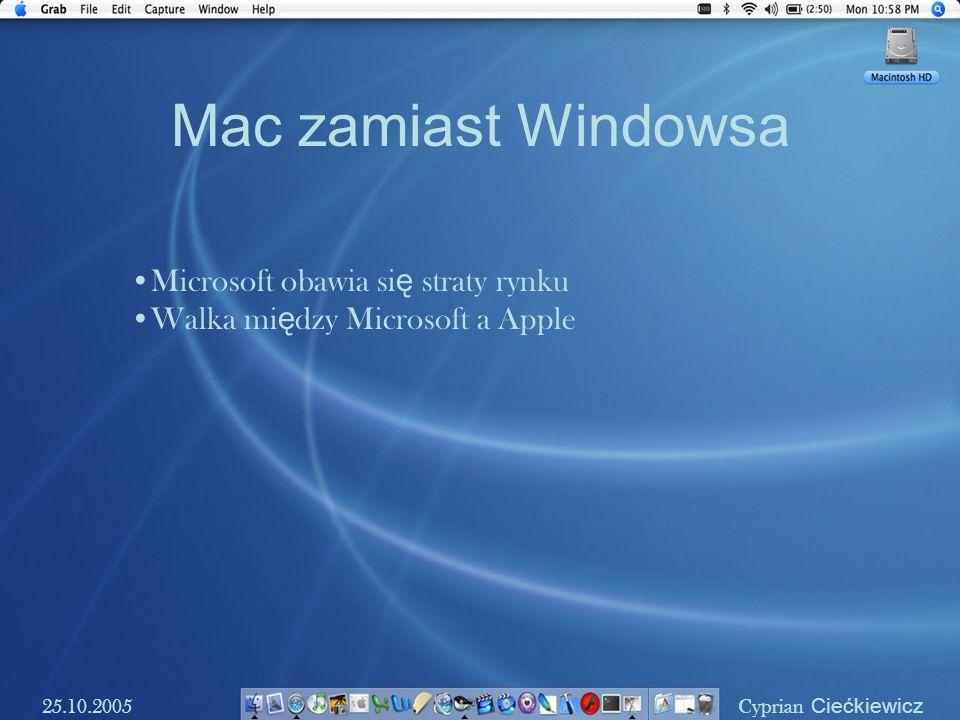 Mac zamiast Windowsa Microsoft obawia się straty rynku