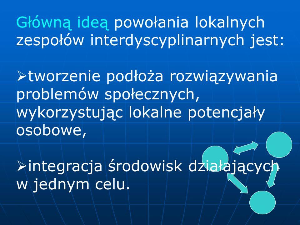 Główną ideą powołania lokalnych zespołów interdyscyplinarnych jest: