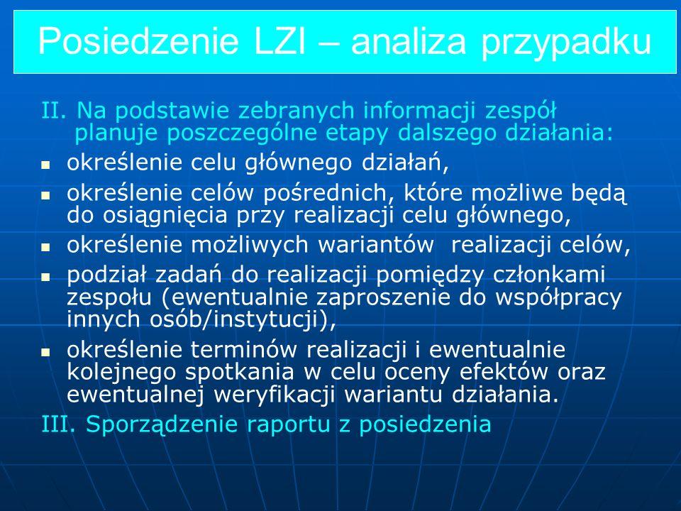 Posiedzenie LZI – analiza przypadku