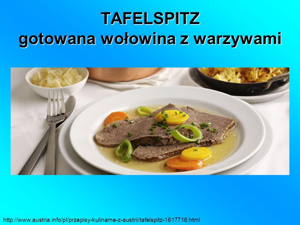 TAFELSPITZ gotowana wołowina z warzywami