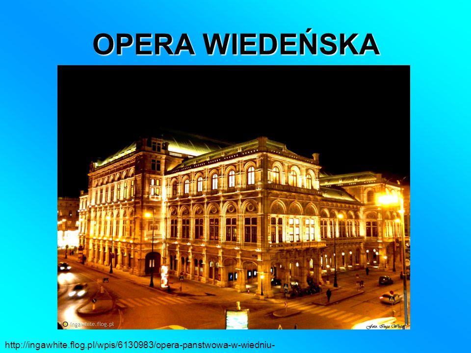 OPERA WIEDEŃSKA http://ingawhite.flog.pl/wpis/6130983/opera-panstwowa-w-wiedniu-
