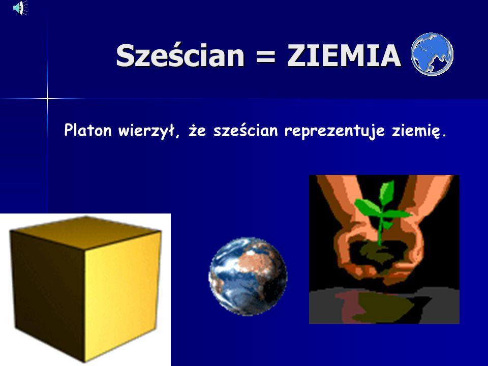 Platon wierzył, że sześcian reprezentuje ziemię.