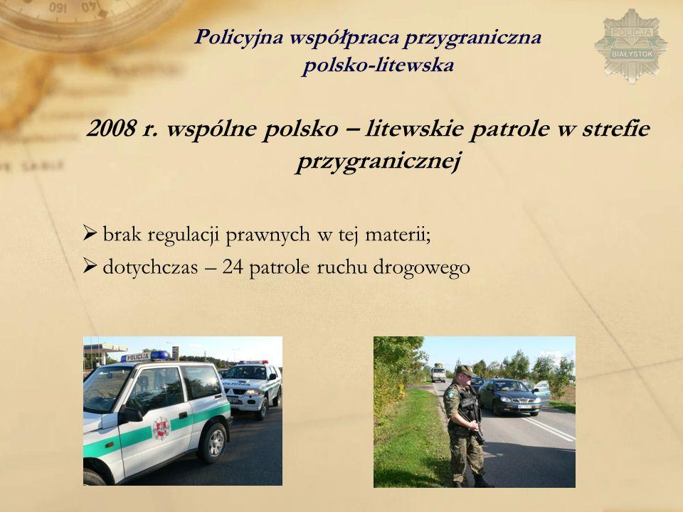 2008 r. wspólne polsko – litewskie patrole w strefie przygranicznej