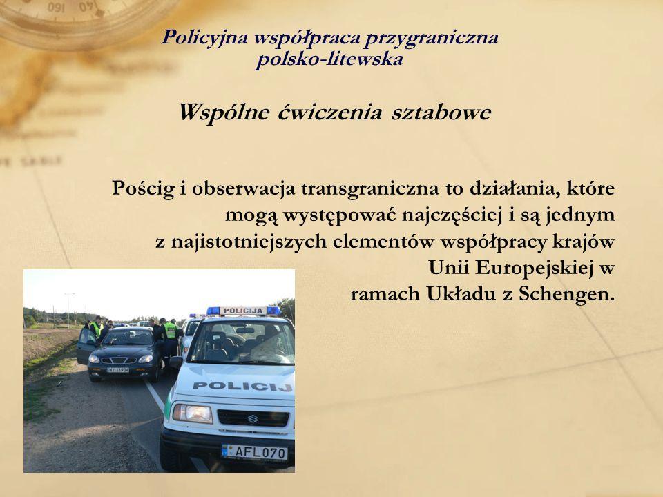 Policyjna współpraca przygraniczna polsko-litewska Wspólne ćwiczenia sztabowe