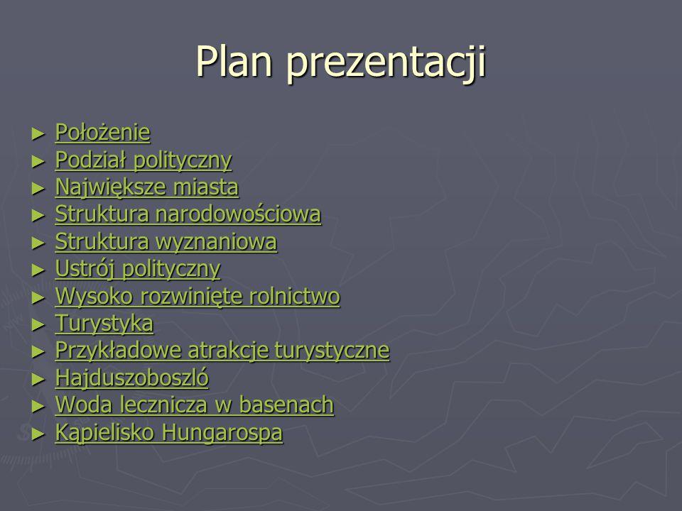 Plan prezentacji Położenie Podział polityczny Największe miasta