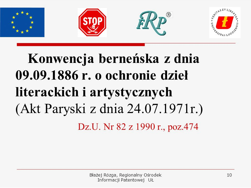 Błażej Rózga, Regionalny Ośrodek Informacji Patentowej UŁ