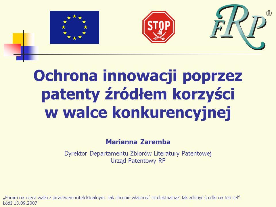 Dyrektor Departamentu Zbiorów Literatury Patentowej Urząd Patentowy RP