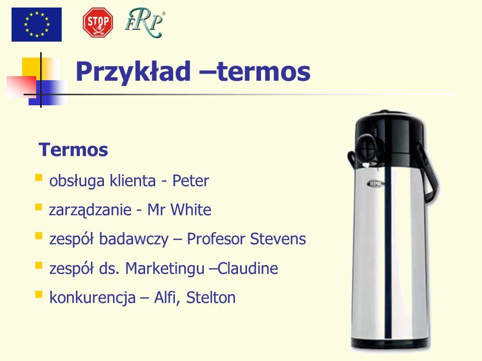 Przykład –termos Termos obsługa klienta - Peter zarządzanie - Mr White