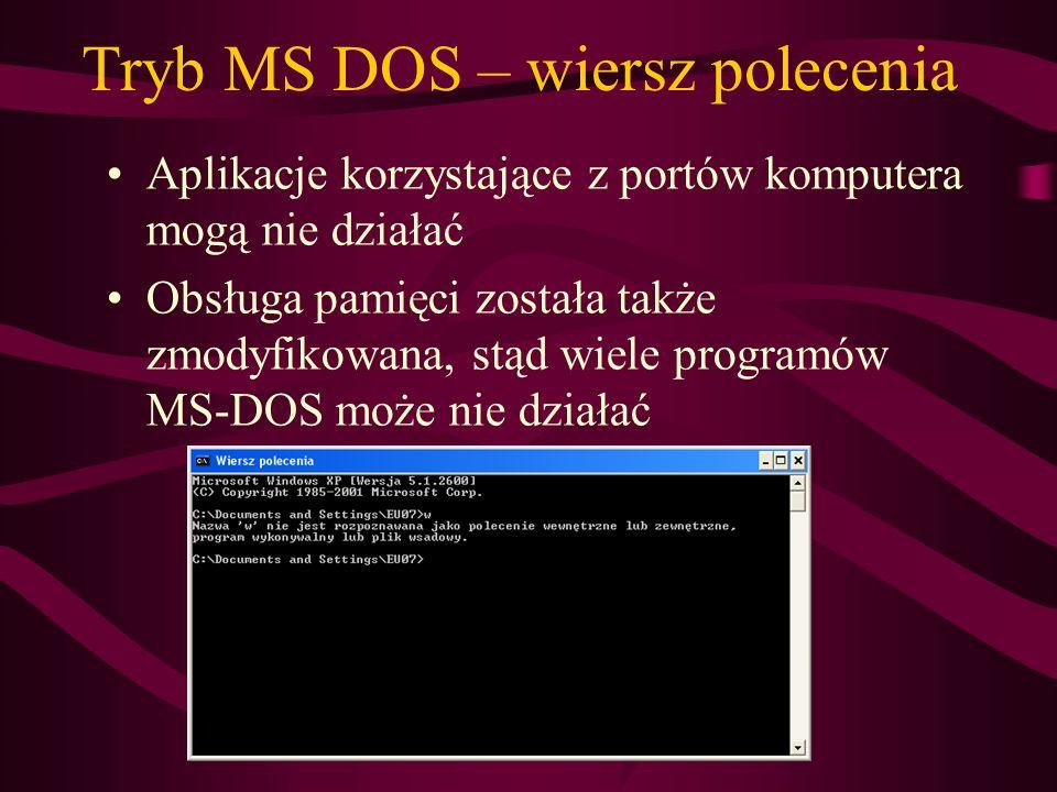 Tryb MS DOS – wiersz polecenia