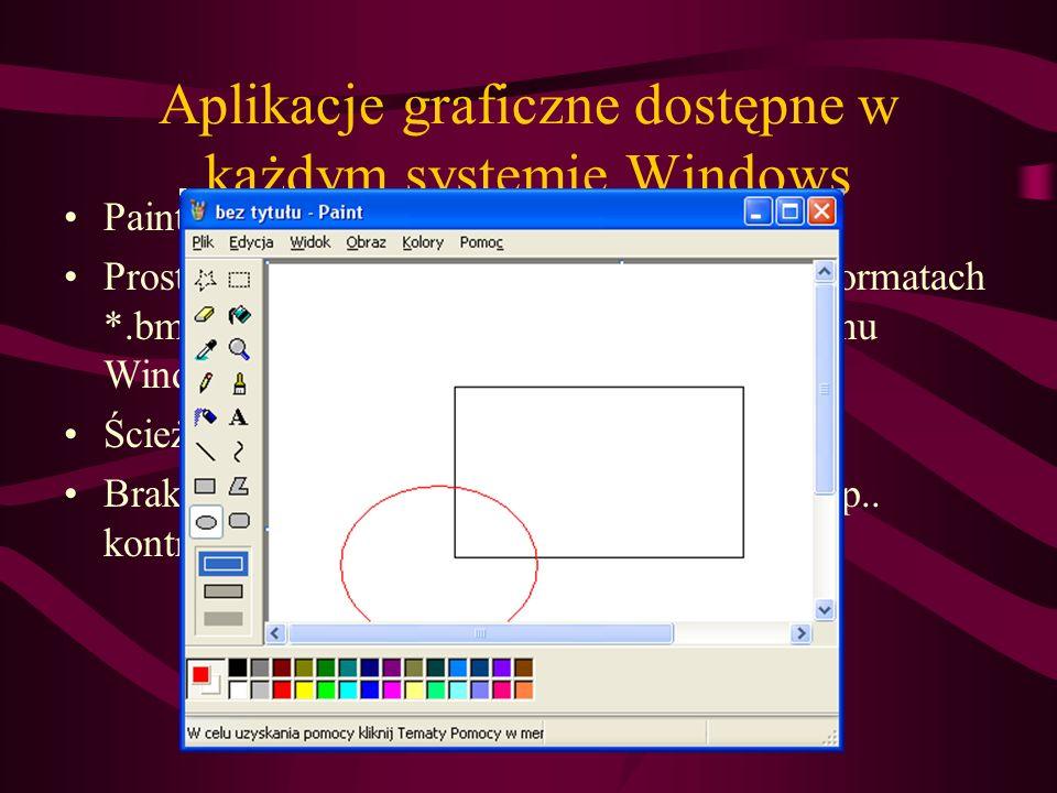 Aplikacje graficzne dostępne w każdym systemie Windows