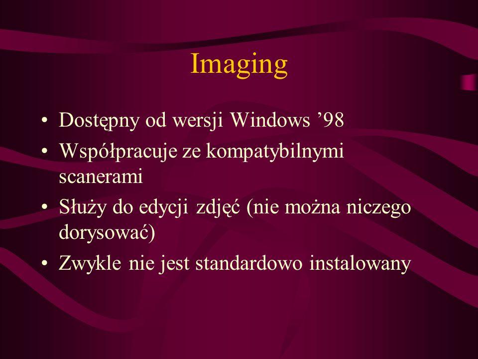 Imaging Dostępny od wersji Windows '98