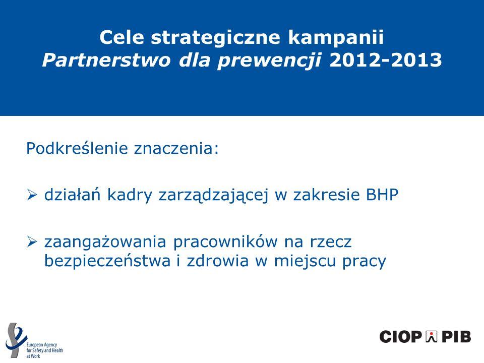 Cele strategiczne kampanii Partnerstwo dla prewencji 2012-2013