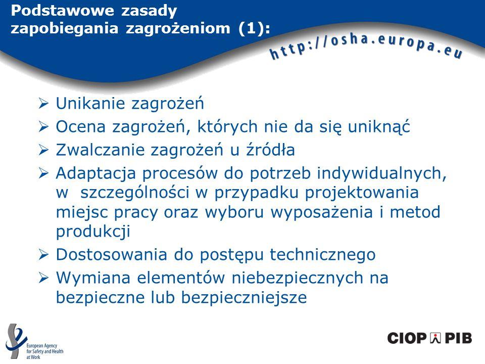 Podstawowe zasady zapobiegania zagrożeniom (1):