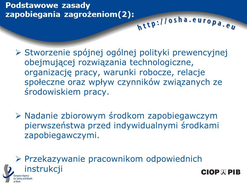 Podstawowe zasady zapobiegania zagrożeniom(2):