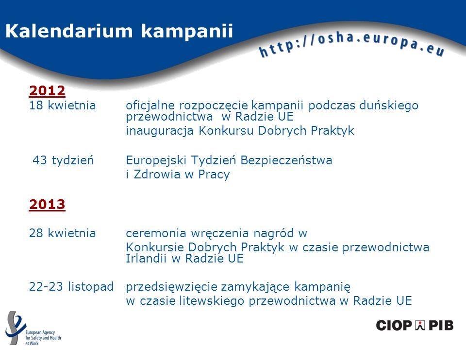 Kalendarium kampanii 2012. 18 kwietnia oficjalne rozpoczęcie kampanii podczas duńskiego przewodnictwa w Radzie UE.