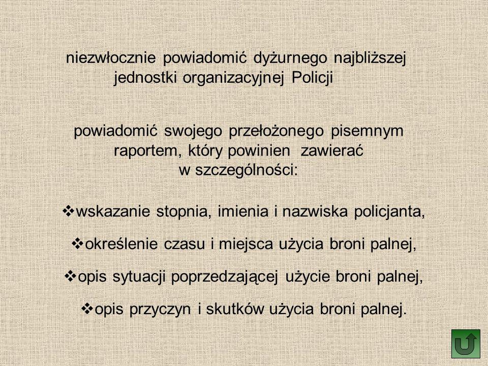 wskazanie stopnia, imienia i nazwiska policjanta,