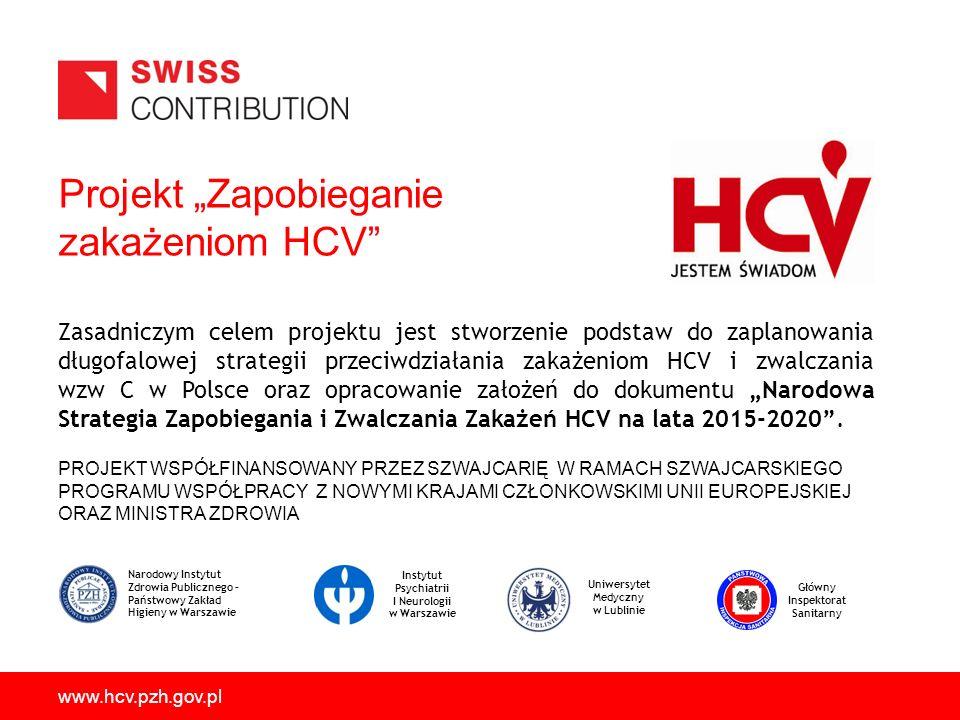 """Projekt """"Zapobieganie zakażeniom HCV"""