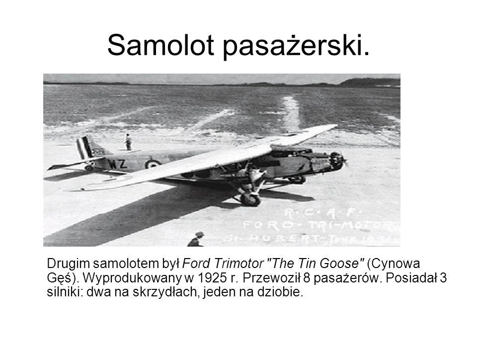 Samolot pasażerski.