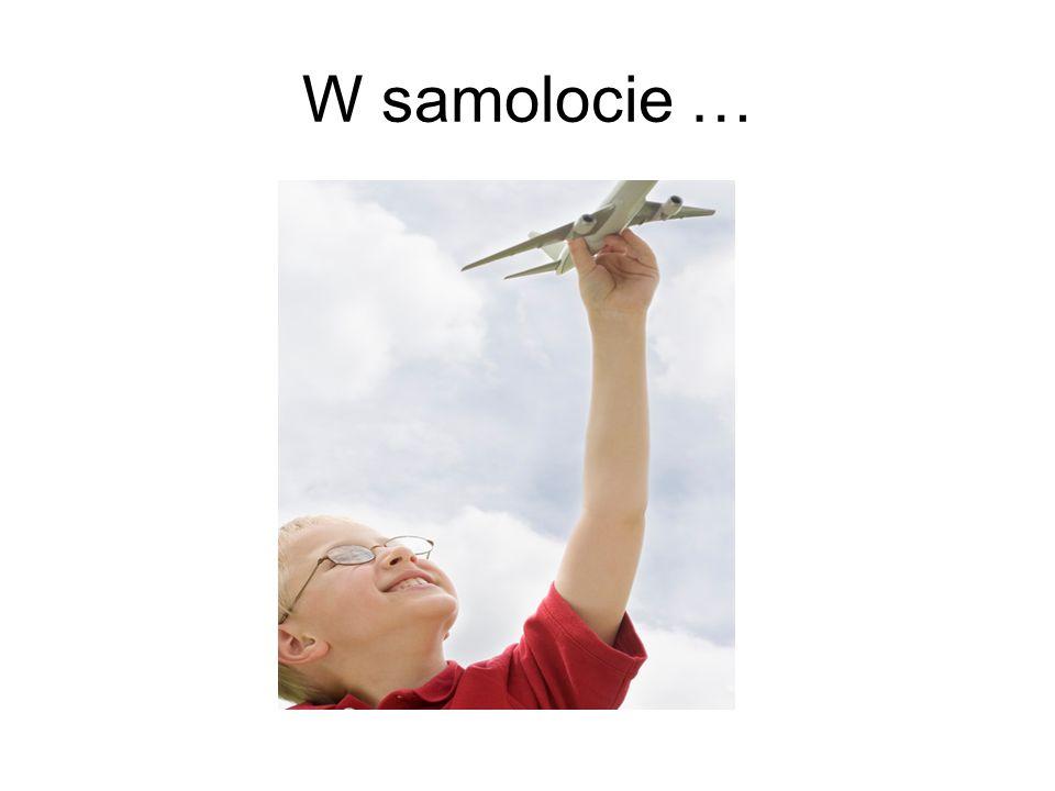 W samolocie …