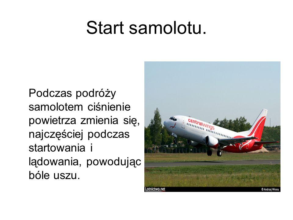 Start samolotu.