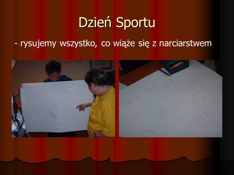 Dzień Sportu - rysujemy wszystko, co wiąże się z narciarstwem