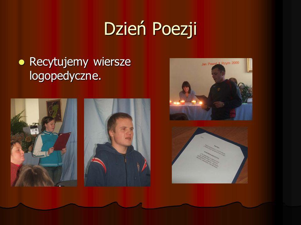 Dzień Poezji Recytujemy wiersze logopedyczne.