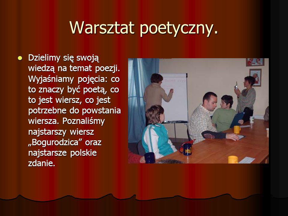 Warsztat poetyczny.