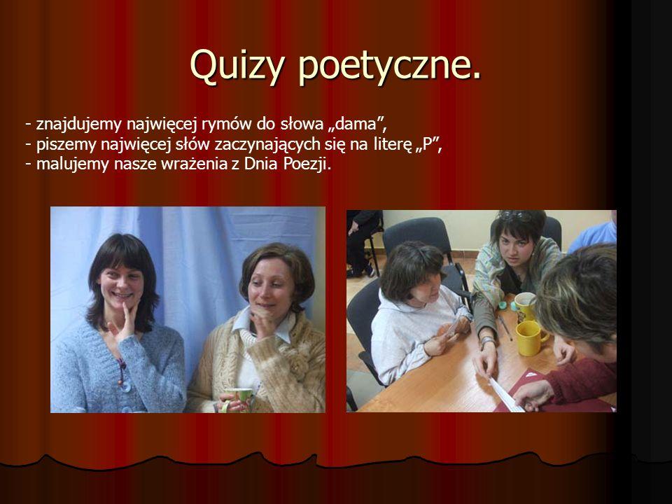 """Quizy poetyczne. - znajdujemy najwięcej rymów do słowa """"dama ,"""