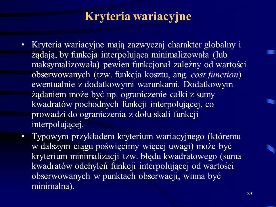 Kryteria wariacyjne