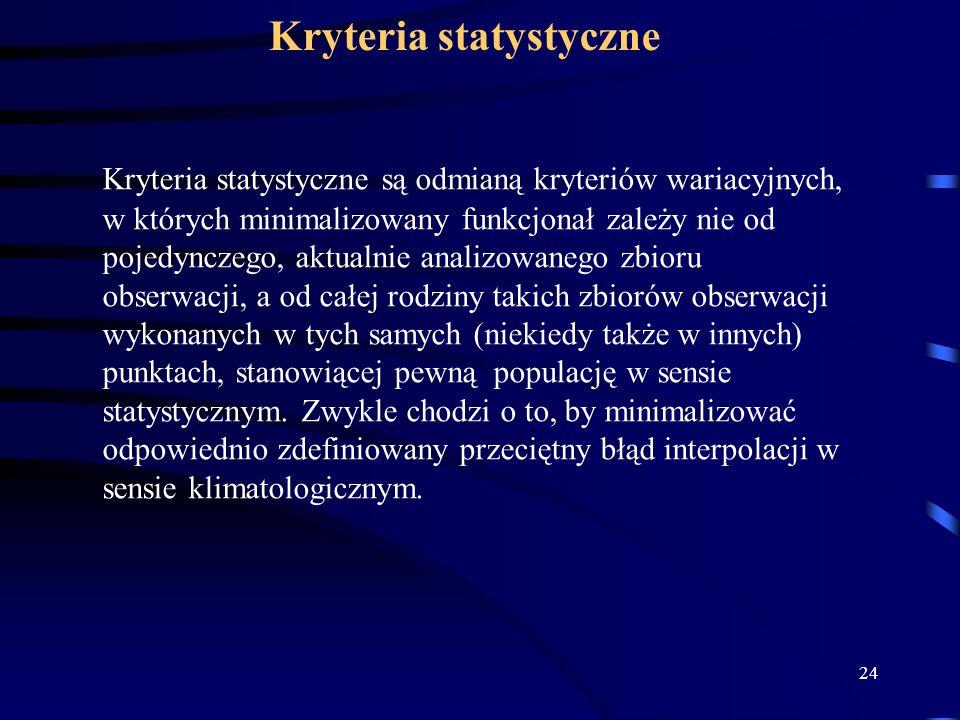 Kryteria statystyczne