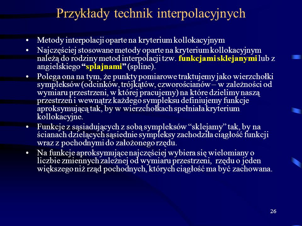 Przykłady technik interpolacyjnych