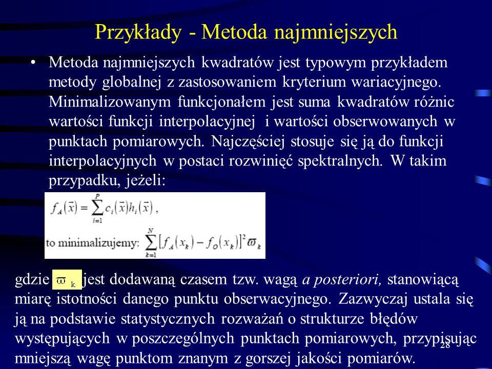 Przykłady - Metoda najmniejszych
