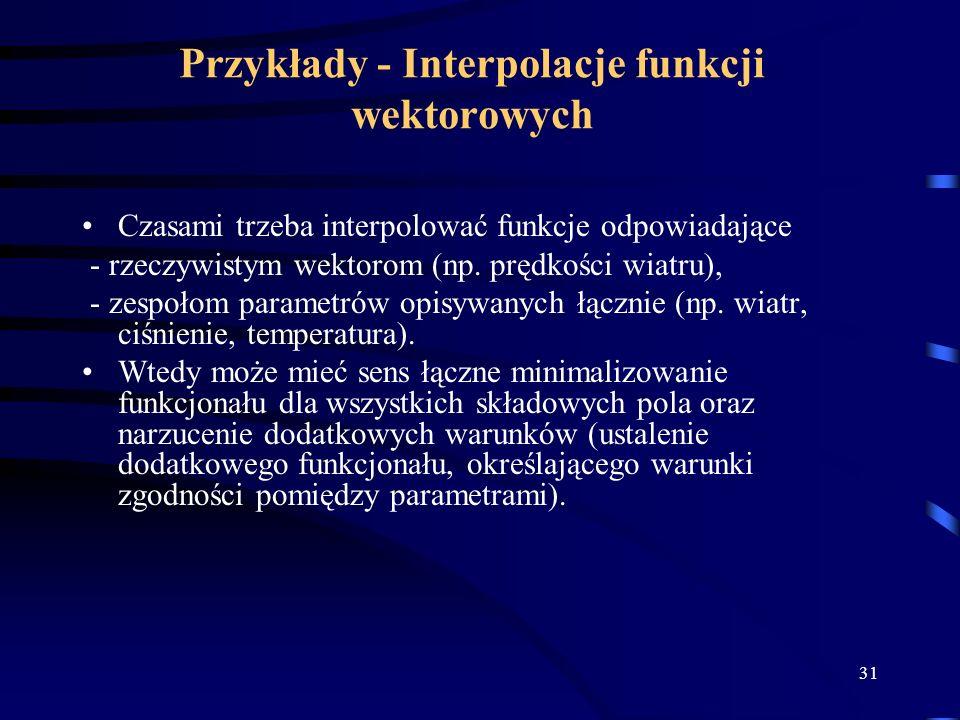 Przykłady - Interpolacje funkcji wektorowych