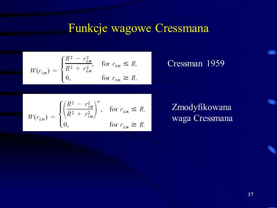 Funkcje wagowe Cressmana