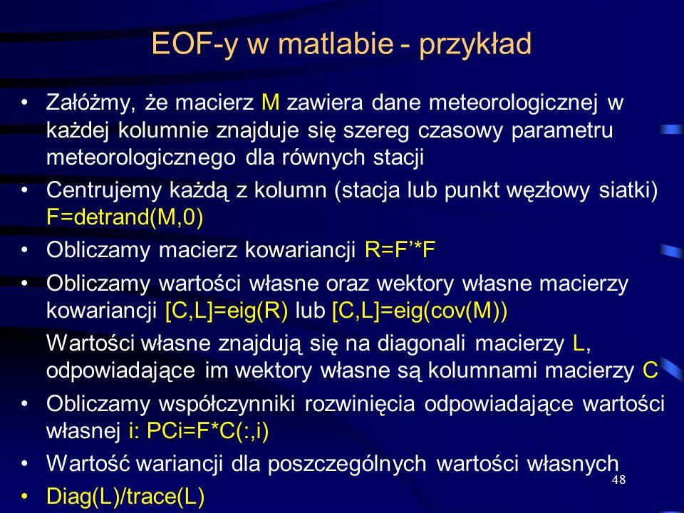 EOF-y w matlabie - przykład