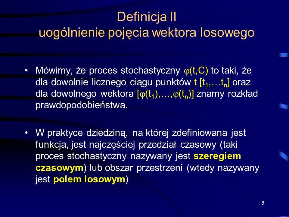 Definicja II uogólnienie pojęcia wektora losowego