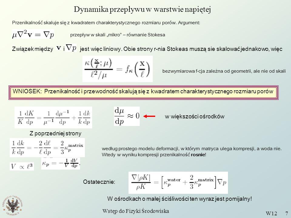 Dynamika przepływu w warstwie napiętej