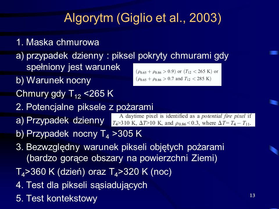 Algorytm (Giglio et al., 2003)
