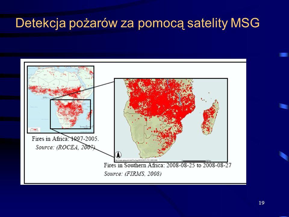 Detekcja pożarów za pomocą satelity MSG