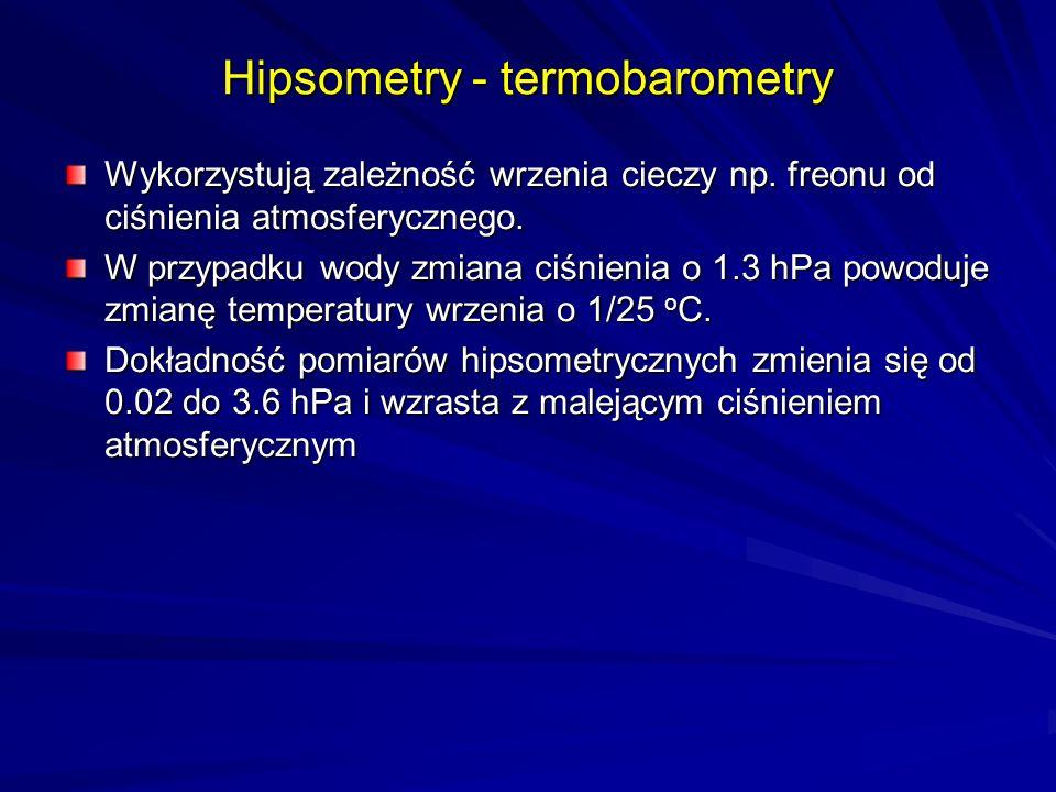 Hipsometry - termobarometry