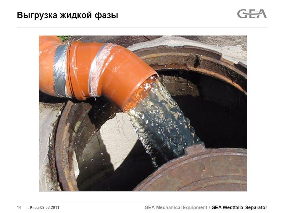 Выгрузка жидкой фазы г. Киев 09.08.2011