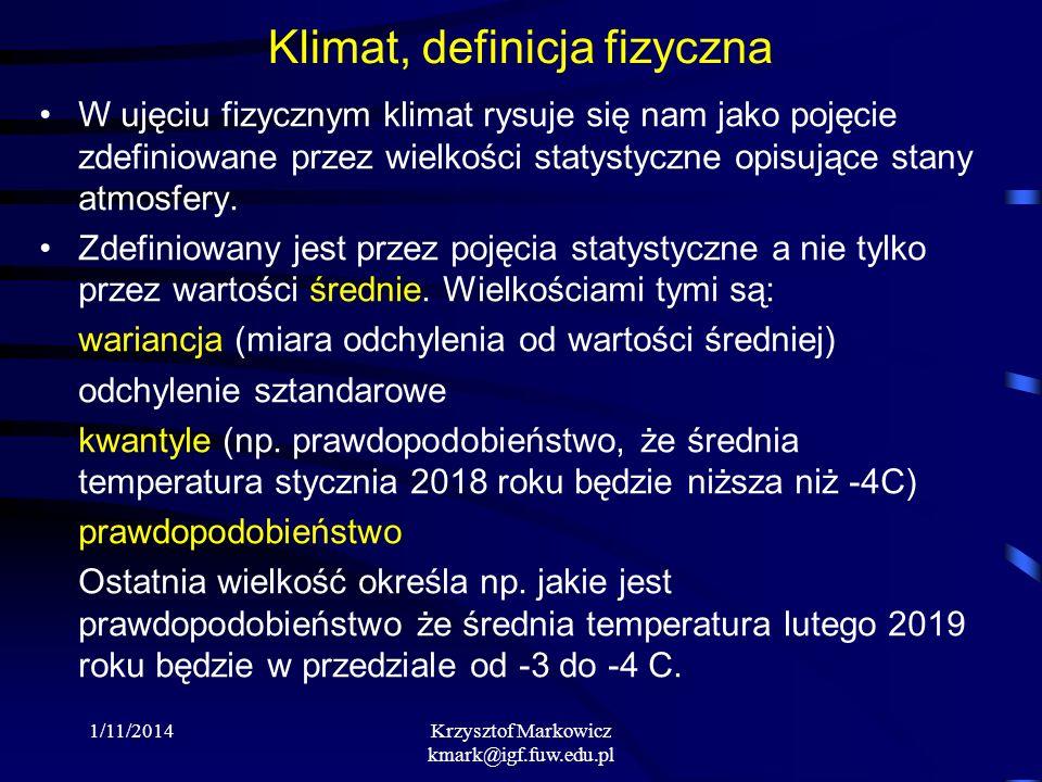 Klimat, definicja fizyczna