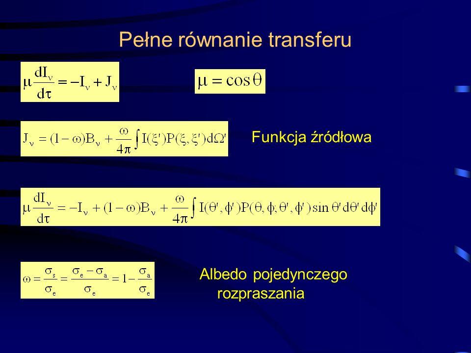 Pełne równanie transferu
