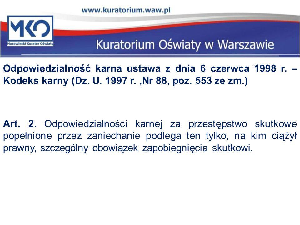Odpowiedzialność karna ustawa z dnia 6 czerwca 1998 r